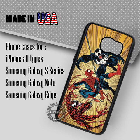 Spiderman and Venom - Samsung Galaxy S8 S7 S6 Note 8 Cases & Covers