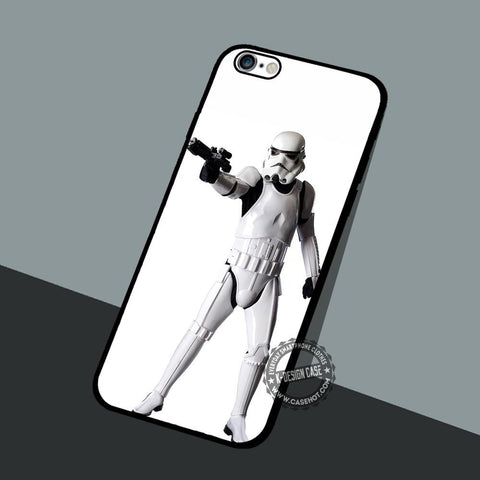 Stormtrooper Mustache Helmet - iPhone 7 6 5 SE Cases & Covers