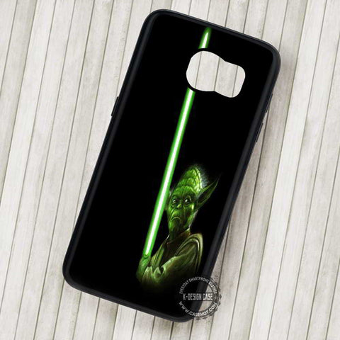 Star Wars Light Saber Green Movie - Samsung Galaxy S7 S6 S5 Note 7 Cases & Covers