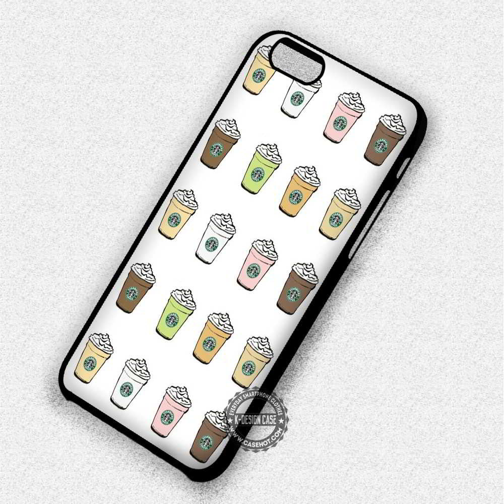 hot sale online 5abc5 728d6 Starbucks Frappuccino Drinks - iPhone 7 6 5 SE Cases & Covers