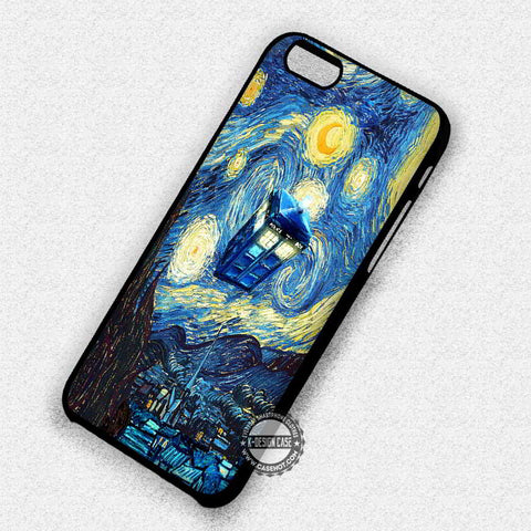 Starry Night Tardis - iPhone 7 6 Plus 5c 5s SE Cases & Covers