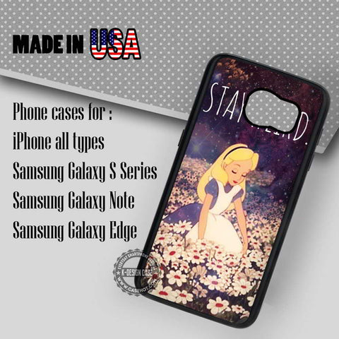 Stay Weird Alice - Samsung Galaxy S7 S6 S5 Note 5 Cases & Covers