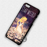 Stay Weird Alice - iPhone 8+ 7 6s SE Cases & Covers