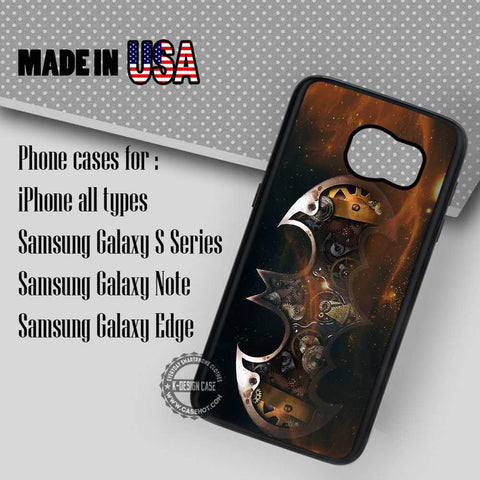 Steampunk Batman Logo - Samsung Galaxy S7 S6 S5 Note 5 Cases & Covers