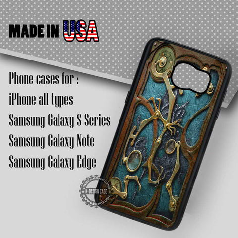 Steampunk Book Cover - Samsung Galaxy S7 S6 S5 Note 5 Cases & Covers