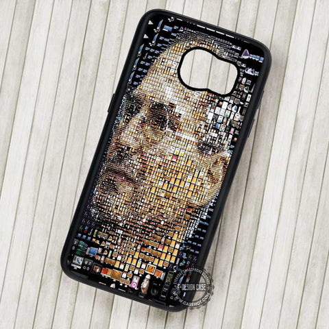 Steve Jobs Mosaic Steven Paul Jobs - Samsung Galaxy S7 S6 S5 Note 7 Cases & Covers