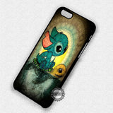 Stitch and Turtle Cute Art - iPhone 7+ 7 6 6+ SE Cases & Covers