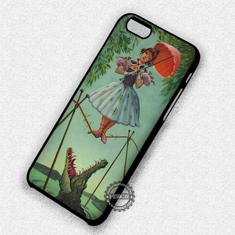Stretching Painting Ballerina and Crocodile - iPhone 7 6s 5c 4s SE Cases & Covers