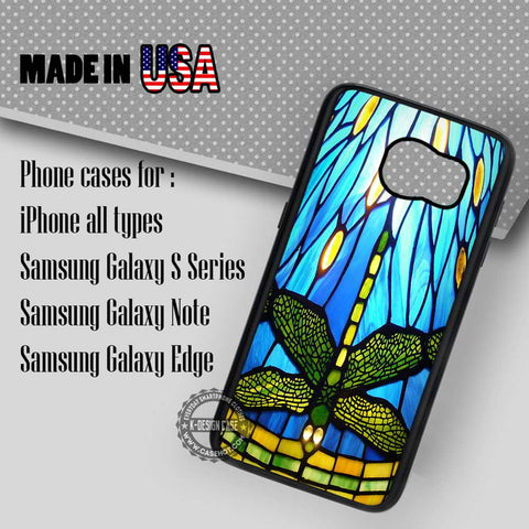 Style Stained Glass Dragonfly - Samsung Galaxy S7 S6 S5 Note 5 Cases & Covers