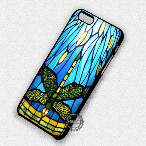 Stained Glass Dragonfly - iPhone 7 6 Plus 5c 5s SE Cases & Covers