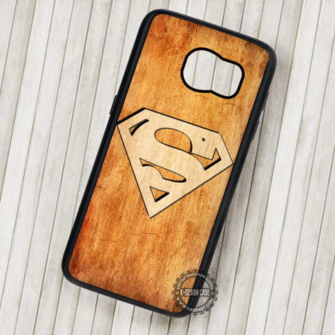 Superman Logo in The Wood - Samsung Galaxy S7 S6 S5 Note 7 Cases & Covers