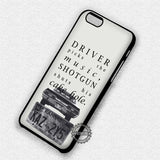 Supernatural Quote Driver - iPhone 7 6 Plus 5c 5s SE Cases & Covers