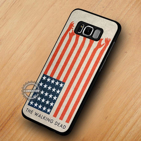The Walking Dead America Flag - Samsung Galaxy S8 Case
