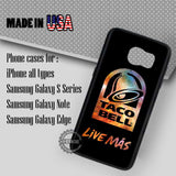 Taco Logo Bell- Samsung Galaxy S7 S6 S5 Note 5 Cases & Covers