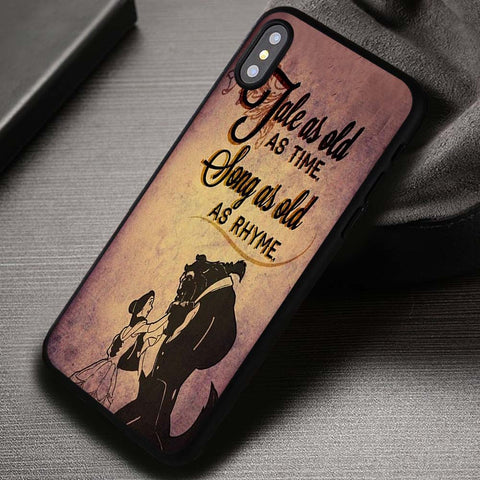 Tale as Old as Time Belle Beauty and The Beast Quotes - iPhone X Case