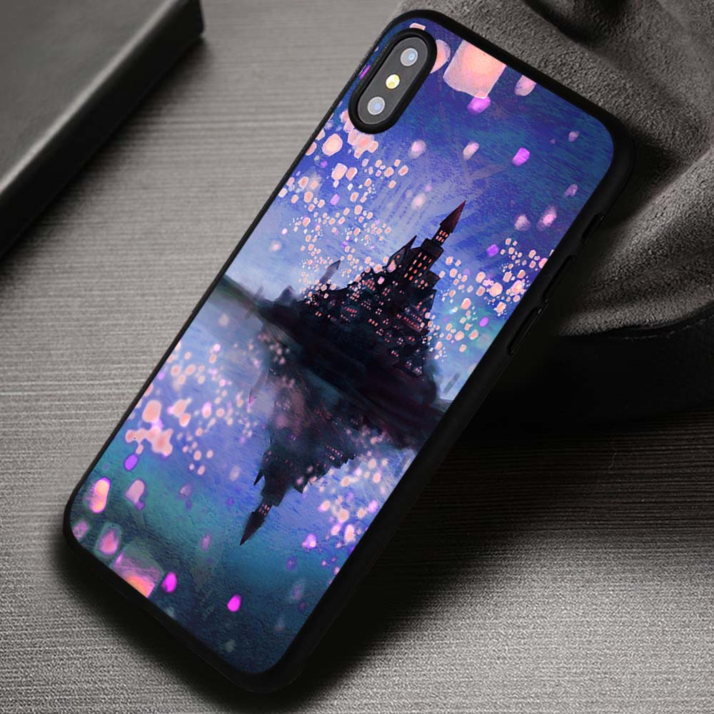 best service f7f08 ac8bb Tangled Castle in Painting Disney Rapunzel - iPhone X 8+ 7 6s SE Cases &  Covers #iPhoneX