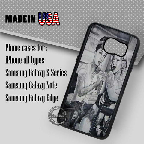 Tattoo Marylin Monroe - Samsung Galaxy S7 S6 S5 Note 5 Cases & Covers