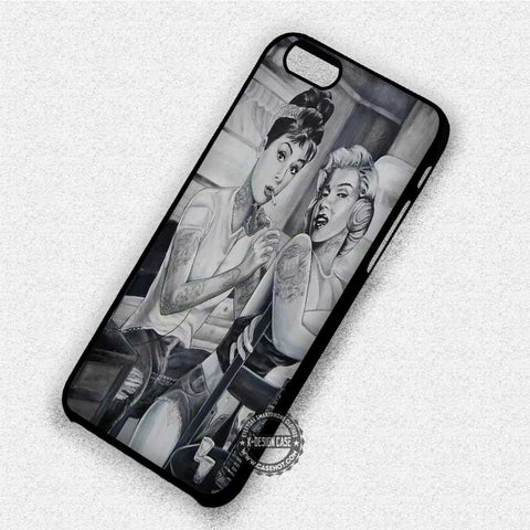 Tattoo Marylin Monroe Audrey Hepburn - iPhone X 8+ 7 6s SE Cases & Covers