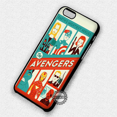 The Avengers Cute Poster - iPhone 7 6 Plus 5c 5s SE Cases & Covers