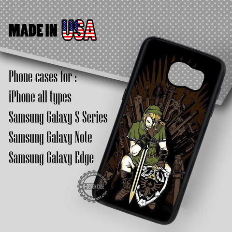 Link in Iron Throne Chair - Samsung Galaxy S7 S6 S5 Note 5 Cases & Covers