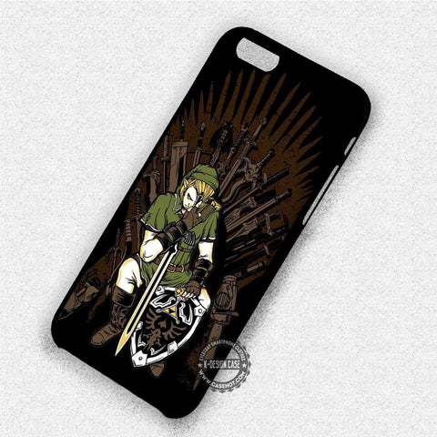 Zelda Link in Iron Throne - iPhone 7 6 Plus 5c 5s SE Cases & Covers