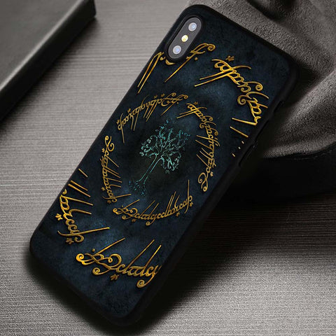 The Lord of The Rings White Tree of Gondor Symbol - iPhone X Case