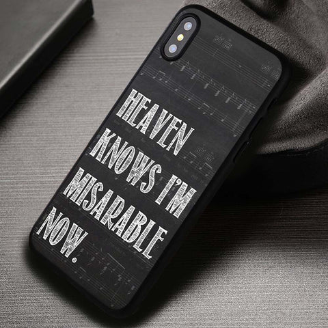 The Smiths Heaven Knows I'm Miserable Now - iPhone X Case
