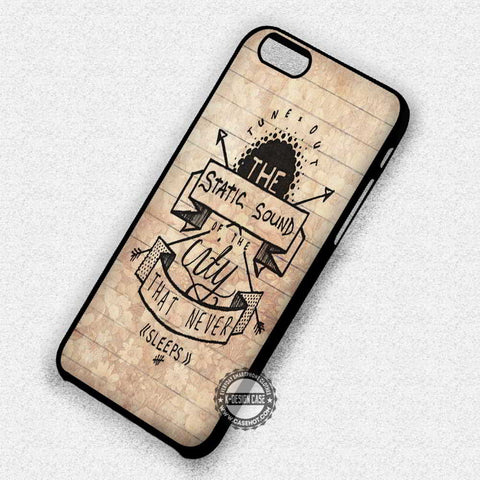 The Static Sound Lyric - iPhone 7 6 Plus 5c 5s SE Cases & Covers