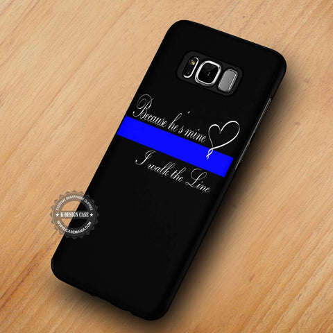 Thin Blue Line Heart Quote - Samsung Galaxy S8 Case