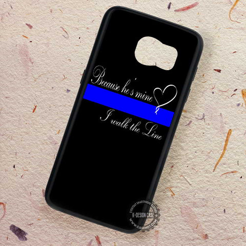 Thin Blue Line Heart Quote - Samsung Galaxy S8 S7 S6 Note 8 Cases & Covers