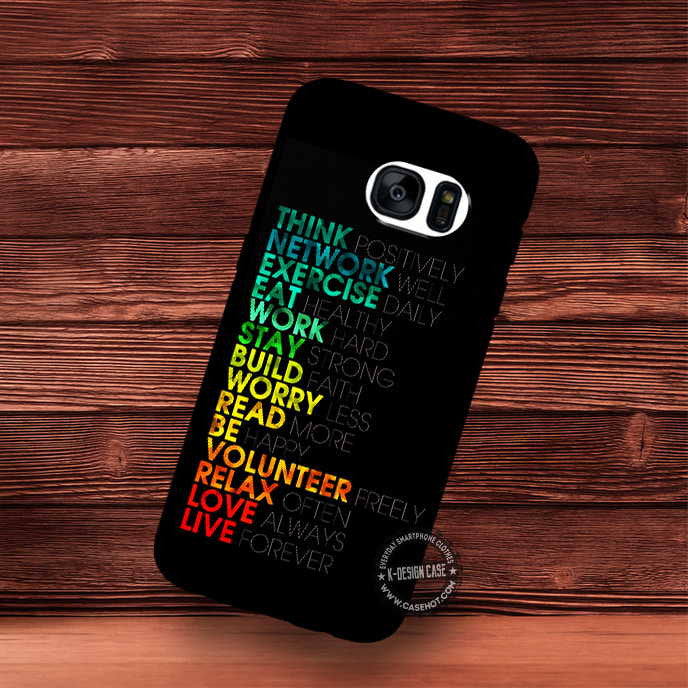 Think Positively Motivation Quote Typography Wallpaper Samsung Galax Samsungiphonecases