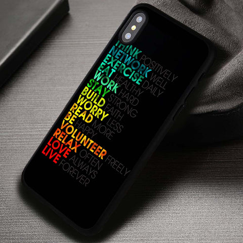 Think Positively Motivation Quote Typography - iPhone X Case