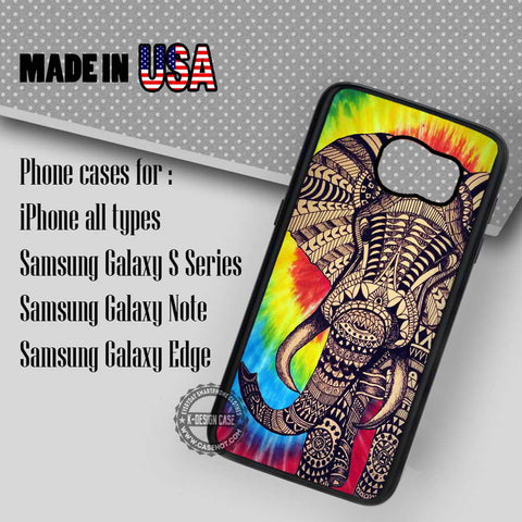 Tie Dye Elephant - Samsung Galaxy S7 S6 S5 Note 5 Cases & Covers