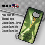 Tinkerbell's Pixie Quote - Samsung Galaxy S7 S6 S5 Note 5 Cases & Covers