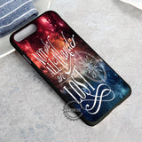 Tolkien Quote Nebula Disney John Green - iPhone 8+ Case