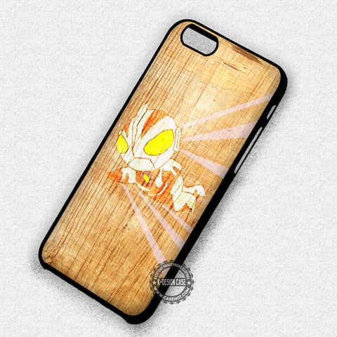 Ultraman on Wood Cartoon Stripped Cute - iPhone 7+ 6S 5 SE Cases & Covers