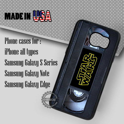 Cassette Vintage Star Wars - Samsung Galaxy S7 S6 S5 Note 5 Cases & Covers