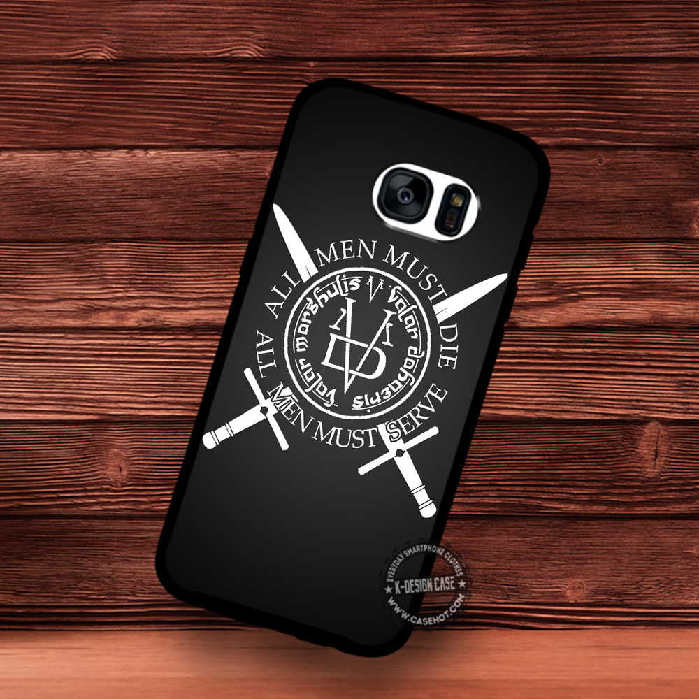 pretty nice 842ff 5adb8 All Men Must Die Gradient Game of Thrones - Samsung Galaxy S7 S6 S5 Note 7  Cases & Covers