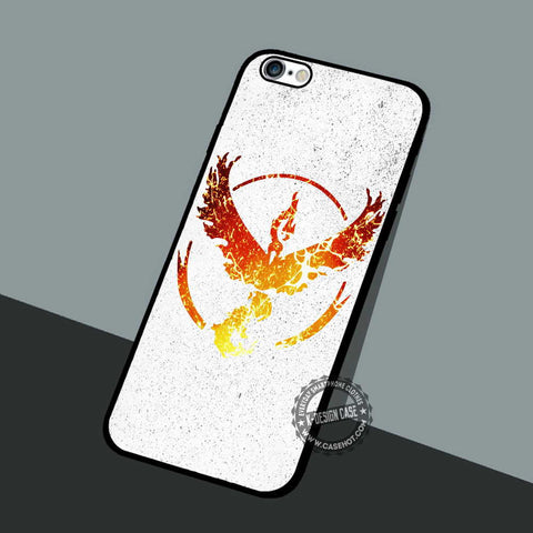 Valor Team In Fire - iPhone 7 6 5 SE Cases & Covers