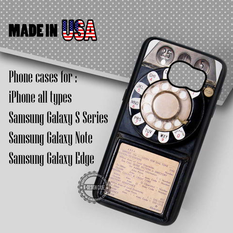 Vintage Old Pay  Phone - Samsung Galaxy S7 S6 S5 Note 5 Cases & Covers