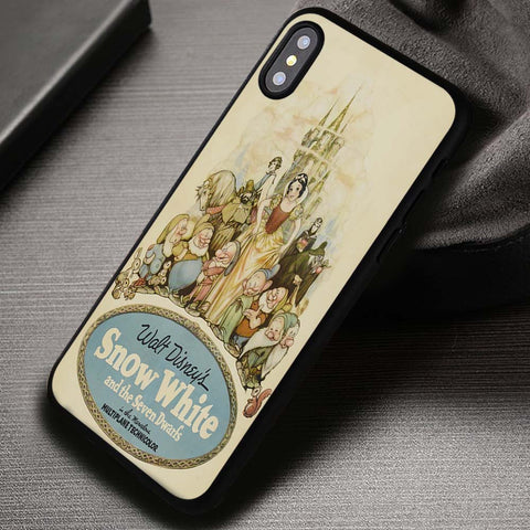 Vintage Poster Snow White Cinderella - iPhone X Case