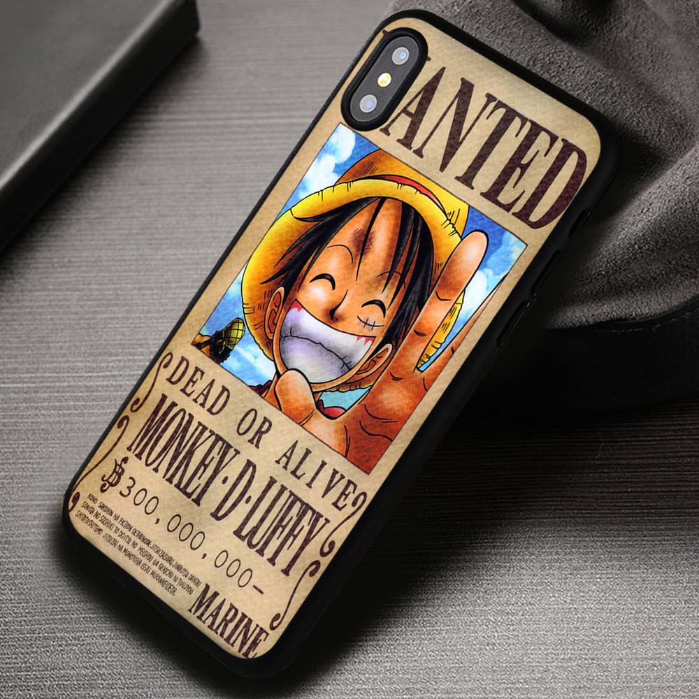best service ee4c7 038a7 Vintage Wanted Poster Luffy One Piece - iPhone X 8+ 7 6s SE Cases & Covers  #iPhoneX