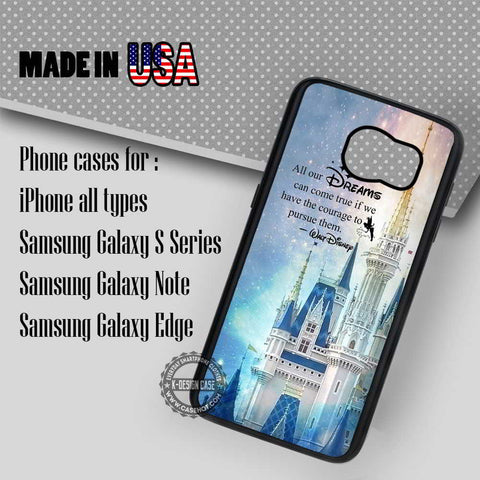 Walt Disney Quotes - Samsung Galaxy S7 S6 S5 Note 5 Cases & Covers