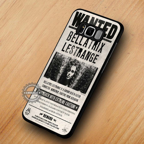 Harry Potter Bellatrix Lestrange Wanted Poster - Samsung Galaxy S8 Case