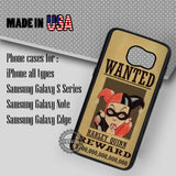 Wanted Poster Harley Quinn - Samsung Galaxy S7 S6 S5 Note 5 Cases & Covers