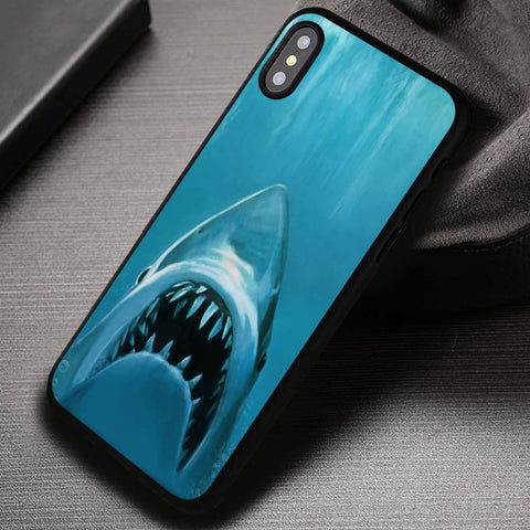 White Shark Jaws Paws - iPhone X Case