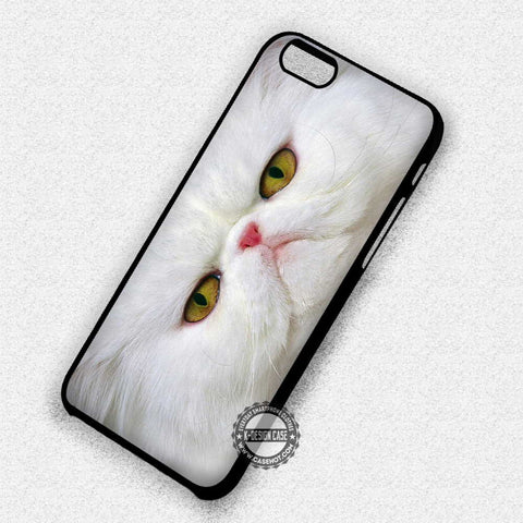 White Cat Face - iPhone 7 Plus 5 SE Cases & Covers