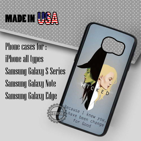 Wicked Quote Broadway - Samsung Galaxy S7 S6 S5 Note 5 Cases & Covers