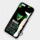 Wicked The Musical - iPhone 7 6 Plus 5c 5s SE Cases & Covers