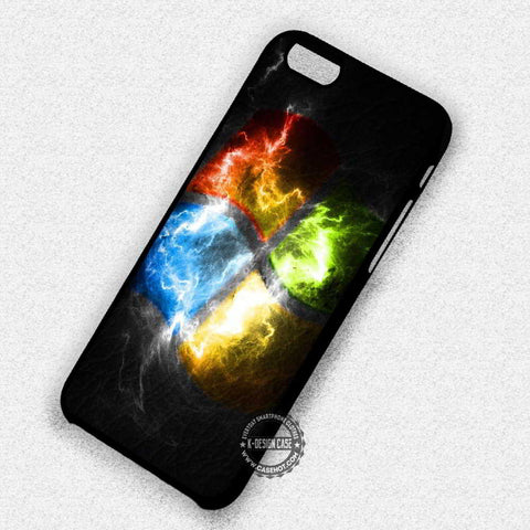 Windows Logo Fire Art - iPhone 7 6s 5c 4s SE Cases & Covers